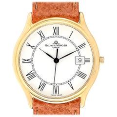 Baume Mercier Classima Ultra Thin 18 Karat Yellow Gold Quartz Watch MV045236