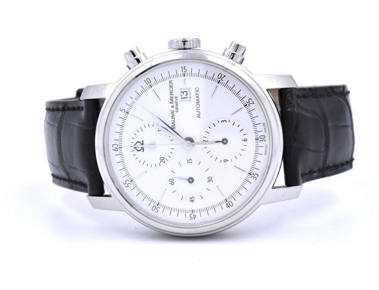 Baume & Mercier Classima XL Chronograph Watch Ref. 65533 In Excellent Condition In Scottsdale, AZ