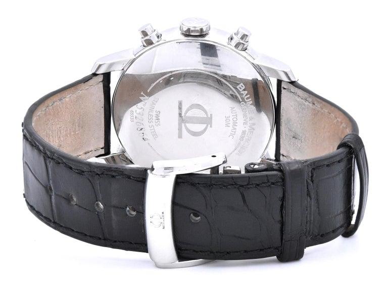 Women's or Men's Baume & Mercier Classima XL Chronograph Watch Ref. 65533