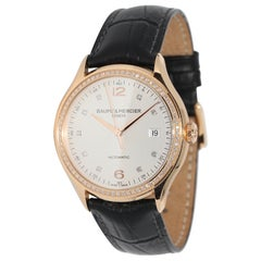 Baume & Mercier Clifton Automatic Wristwatch, 18 Karat Rose Gold with Diamonds