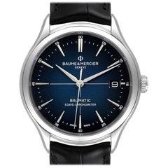Baume Mercier Clifton Baumatic Automatic Steel Men's Watch 10467 Box Card