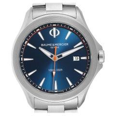 Baume Mercier Clifton Blue Dial Steel Men's Watch M0A10413 Box Card