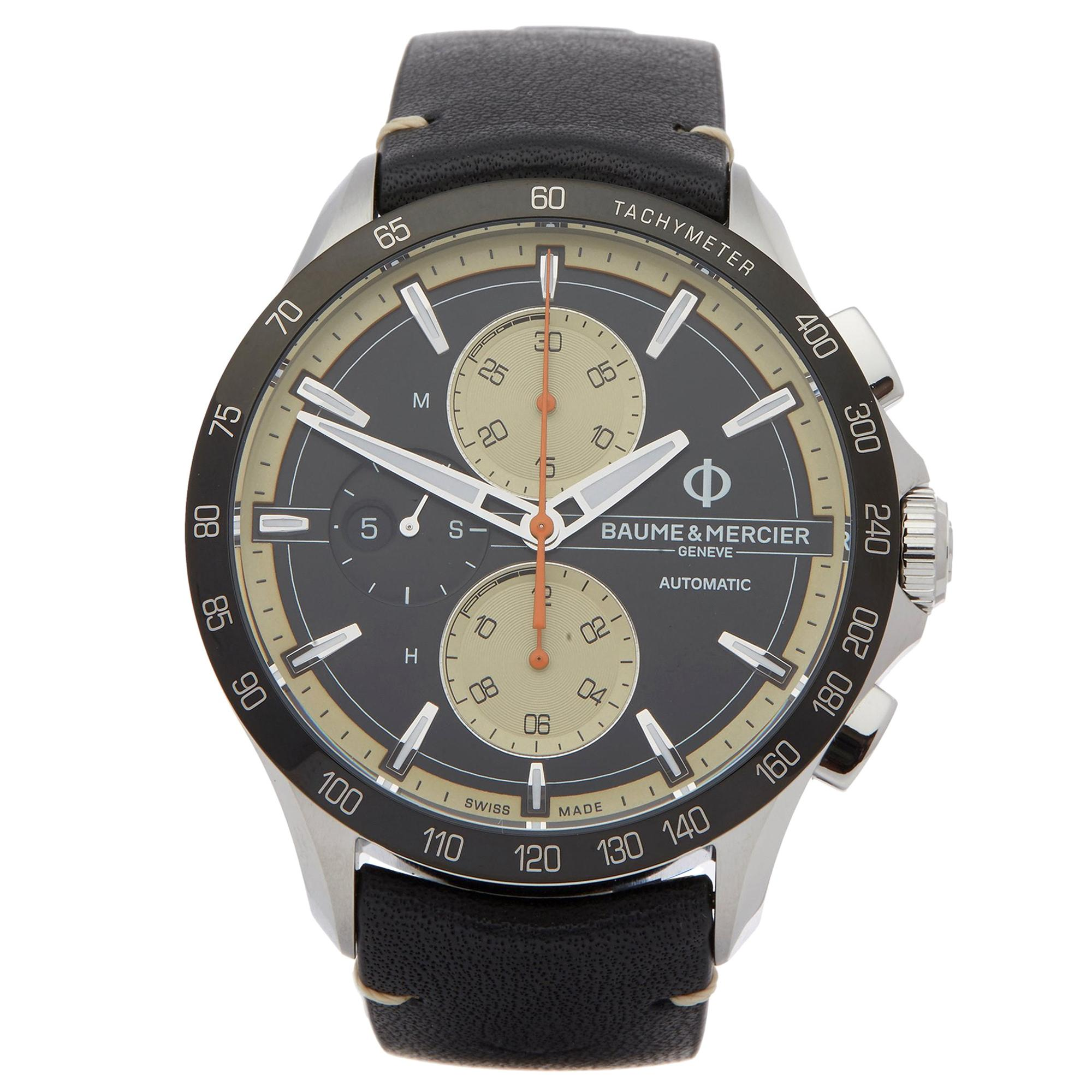 Baume & Mercier Clifton Club M0A10434 Men's Stainless Steel Chronograph Watch