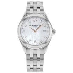Baume & Mercier Clifton MOP Dial Diamonds Steel Quartz Ladies Watch MOA10176