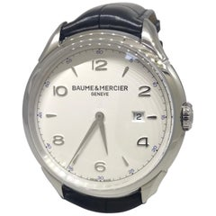 Baume & Mercier Clifton Stainless Steel Leather Band Men's Watch M0A10419