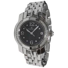 Baume & Mercier Diamond Black Dial Watch 85383