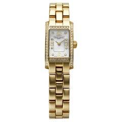 Baume & Mercier Hampton Milleis 18 Karat Gold Mother of Pearl and Diamonds