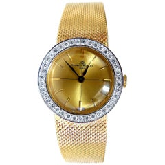Baume Mercier Ladies 1.10 Carat Diamonds Watch 14 Karat