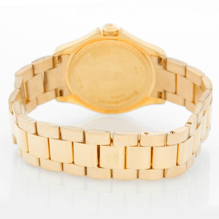 Baume & Mercier Ladies 18K Yellow Gold Riviera Watch MV045109 In Excellent Condition For Sale In Dallas, TX