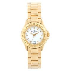 Baume & Mercier Ladies 18K Yellow Gold Riviera Watch MV045109