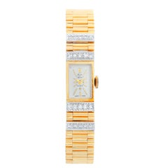 Baume & Mercier Ladies Yellow Gold Diamond Manual Winding Wristwatch