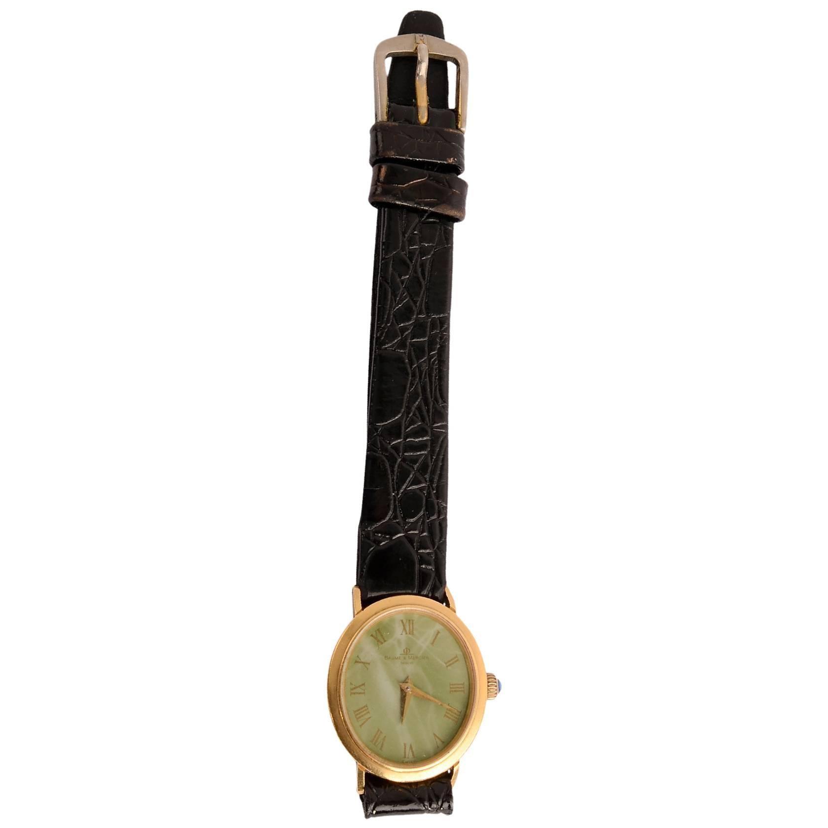 Baume & Mercier Ladies Yellow Gold Manual Wristwatch
