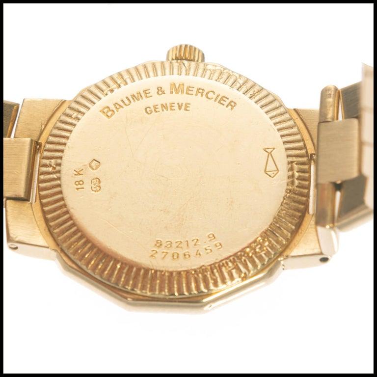 Baume & Mercier Ladies Yellow Gold Riviera Quartz Wristwatch For Sale 1