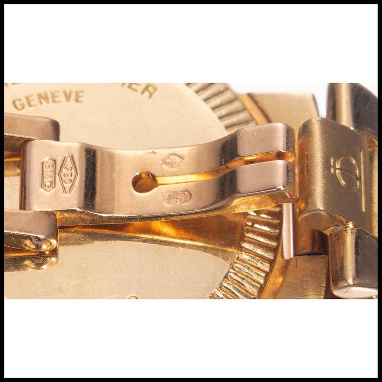 Baume & Mercier Ladies Yellow Gold Riviera Quartz Wristwatch For Sale 2