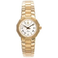 Baume & Mercier Ladies Yellow Gold Riviera Quartz Wristwatch