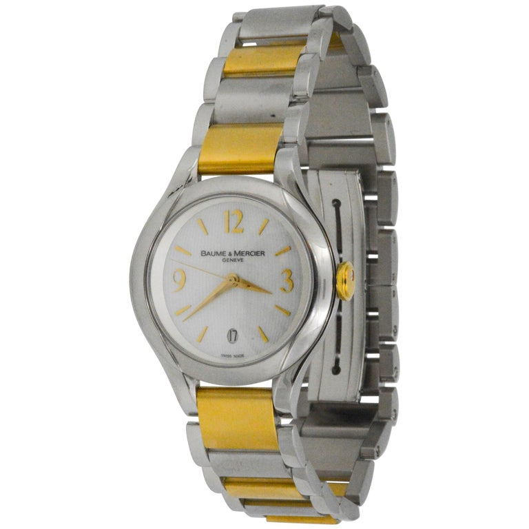 2d0418f2f99 Baume   Mercier Ladies Yellow Gold Stainless Steel Linea Wristwatch For Sale