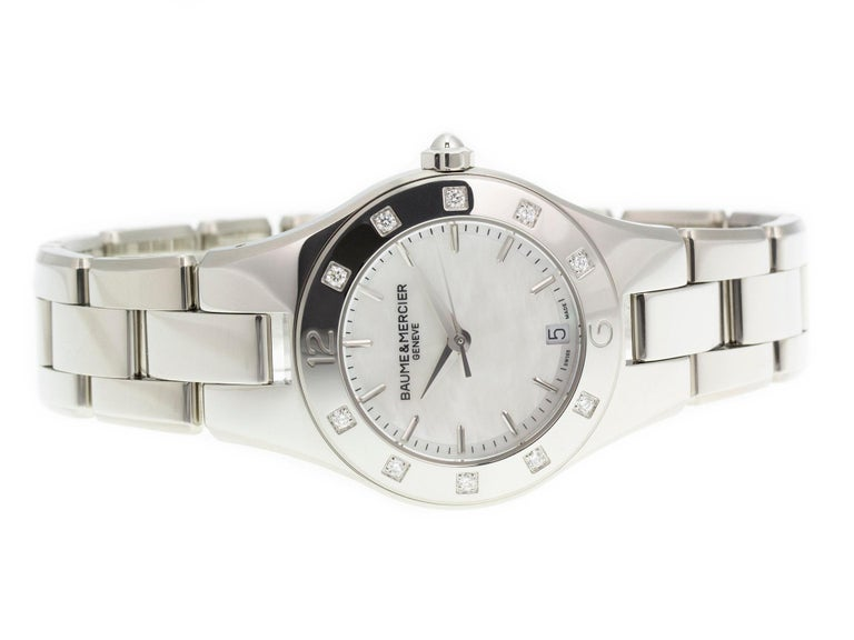 Baume & Mercier Linea MOA10071 In Excellent Condition For Sale In Willow Grove, PA