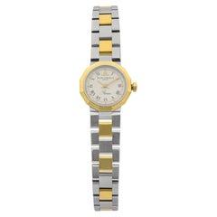 Baume & Mercier Riviera 18K Gold Steel White Dial Quartz Ladies Watch 5220.038