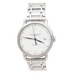 Baume & Mercier Silver Stainless Steel Classima 65615 Men's Wristwatch 39 mm