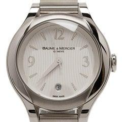 Baume & Mercier Silver Stainless Steel Ilea M0A08767 Women's Wristwatch 30MM
