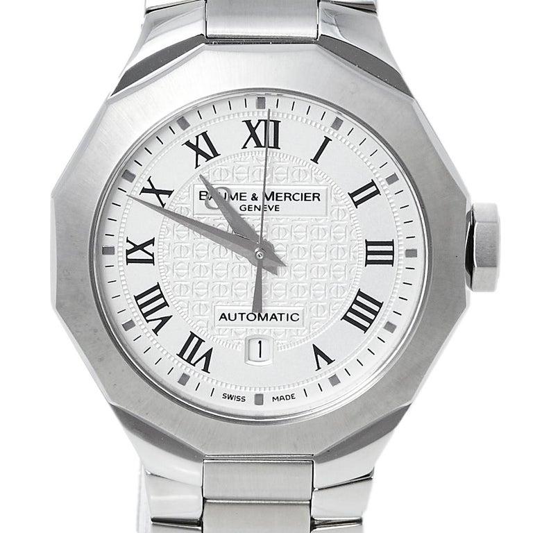 Baume & Mercier Silver Stainless Steel Riviera M0A08782 Women's Wristwatch 28 mm 1