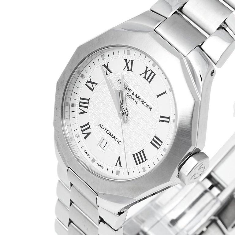 Baume & Mercier Silver Stainless Steel Riviera M0A08782 Women's Wristwatch 28 mm 2