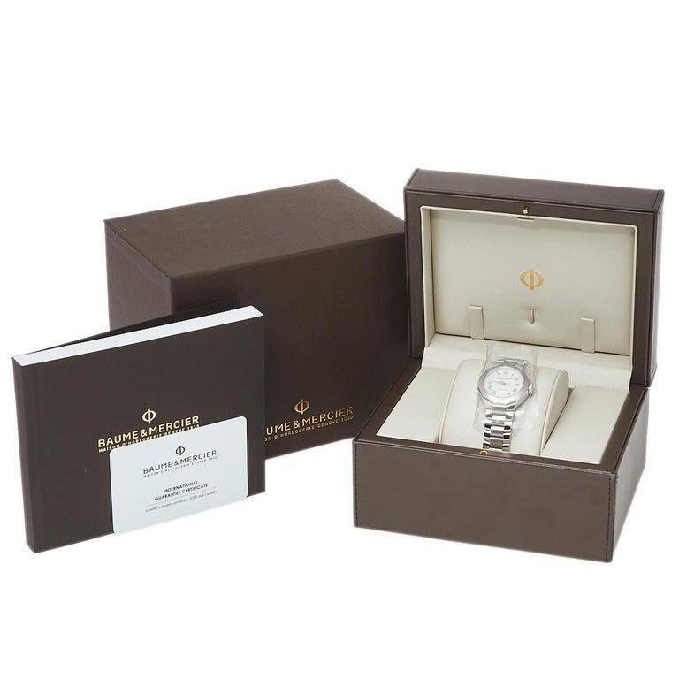Baume & Mercier Silver Stainless Steel Riviera M0A08782 Women's Wristwatch 28 mm 3