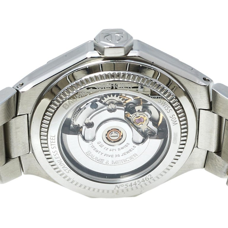 Baume & Mercier Silver Stainless Steel Riviera M0A08782 Women's Wristwatch 28 mm 4