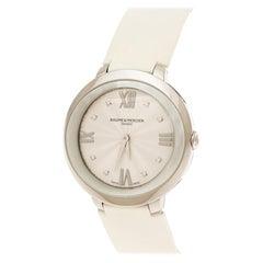 Baume & Mercier Silver White Stainless Steel  MOA10177 Women's Wristwatch 34mm
