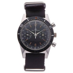 Baume & Mercier Stainless Steel Vintage Chronograph Mechanical Wind Wristwatch