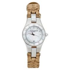 Baume & Mercier White Stainless Steel Linea 65690 Women's Wristwatch 27 mm
