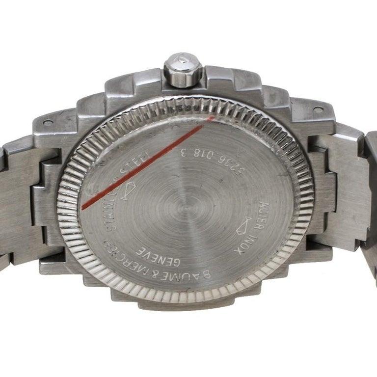 Baume & Mercier White Two-Tone Riviera 5236.018.3 Women's Wristwatch 26 mm In Good Condition In Dubai, Al Qouz 2