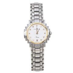 Baume & Mercier White Two-Tone Riviera 5236.018.3 Women's Wristwatch 26 mm