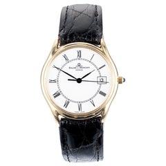 Baume Mercier Yellow Gold Date Quartz Men's Wristwatch