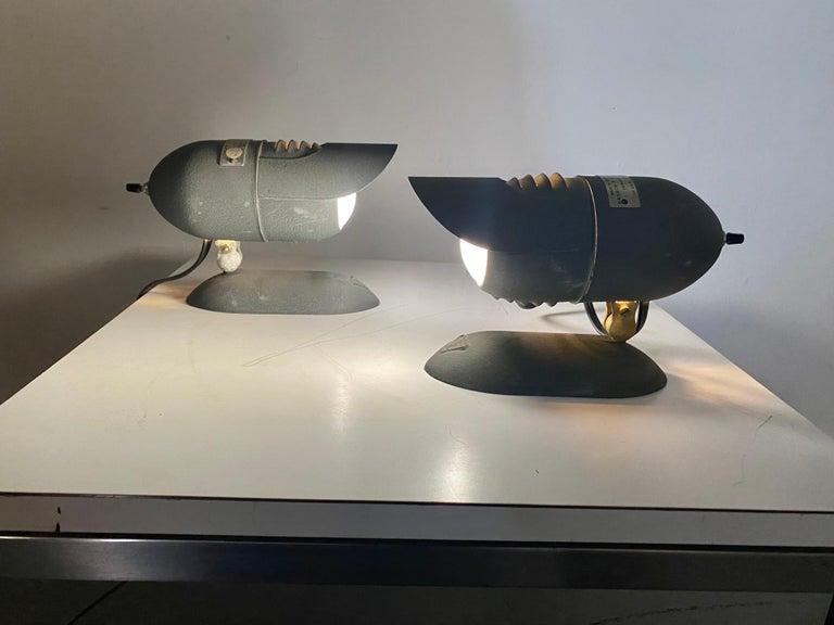 Bausch & Lomb Industrial articulating desk lamp, sconce... Mid-Century Modern...Art Deco, great streamline design.