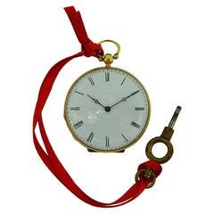 Bautte & Co. 18 Karat Yellow Gold Keywind Pendant Pocket Watch