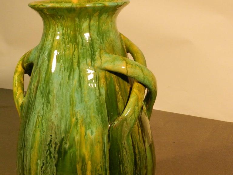Bavent, ceramic vase Art Nouveau, signed TN