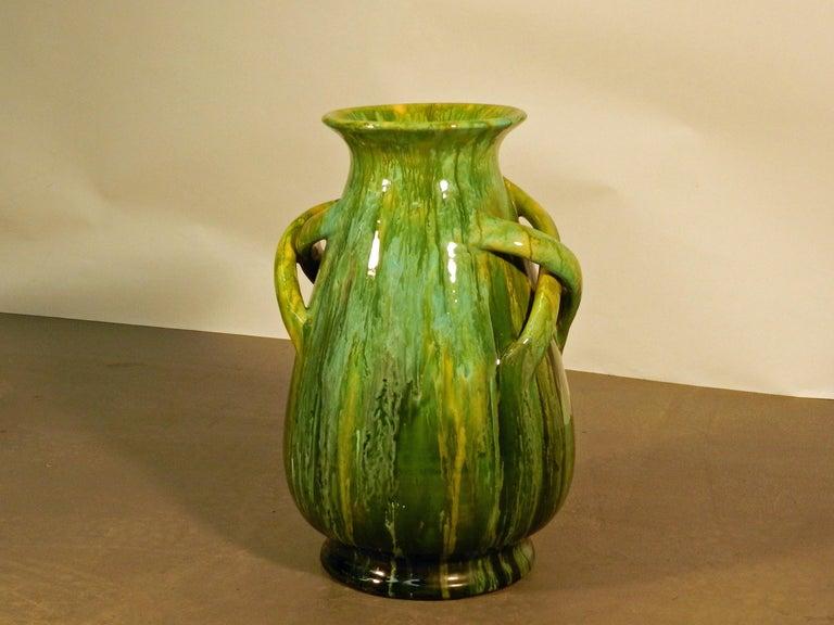 20th Century Bavent, Ceramic Vase Art Nouveau, Signed TN