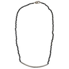 Bavna Black & Sterling Silver Diamond-Accented Necklace