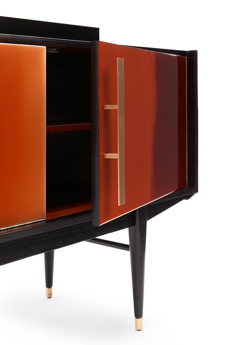 Hand-Crafted Baxter Bea Cabinet in Dark Stain & Natural-Oil Finished Rosewood by Draga For Sale