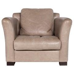 Baxter Budapest Leather Armchair Set Gray 2 Armchair