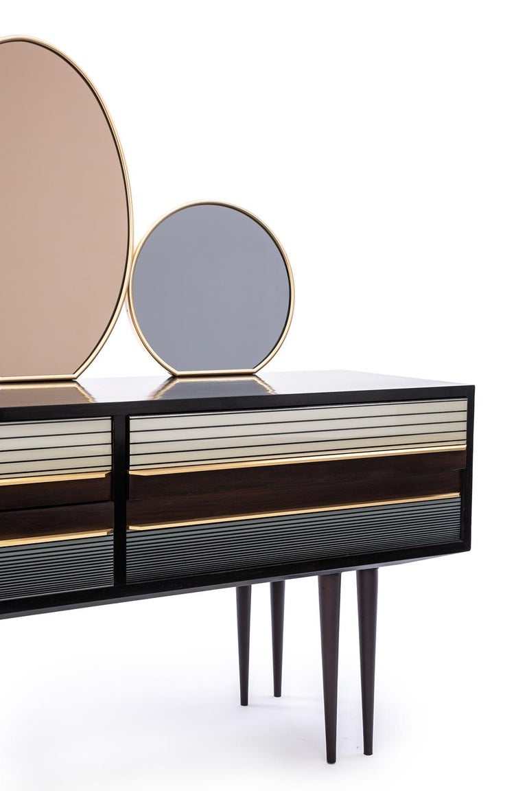 Baxter Buffet No. 2 in Rosewood with Tinted Mirrors, circa 1950 by Draga & Aurel For Sale 1