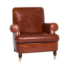 Baxter Charlotte Designer Leather Armchair Brown