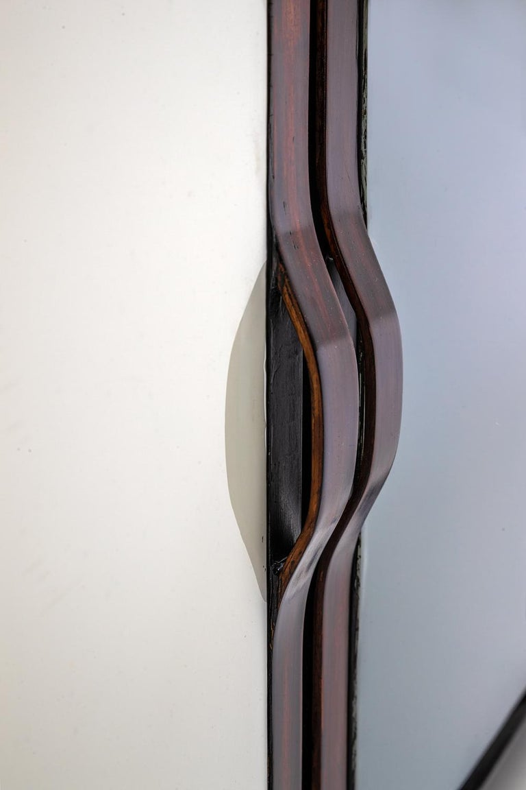 Contemporary Baxter Danished inspired Credenza in Rosewood with Resin Facade by Draga For Sale