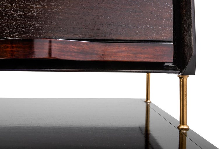 Baxter Danished inspired Credenza in Rosewood with Resin Facade by Draga For Sale 1