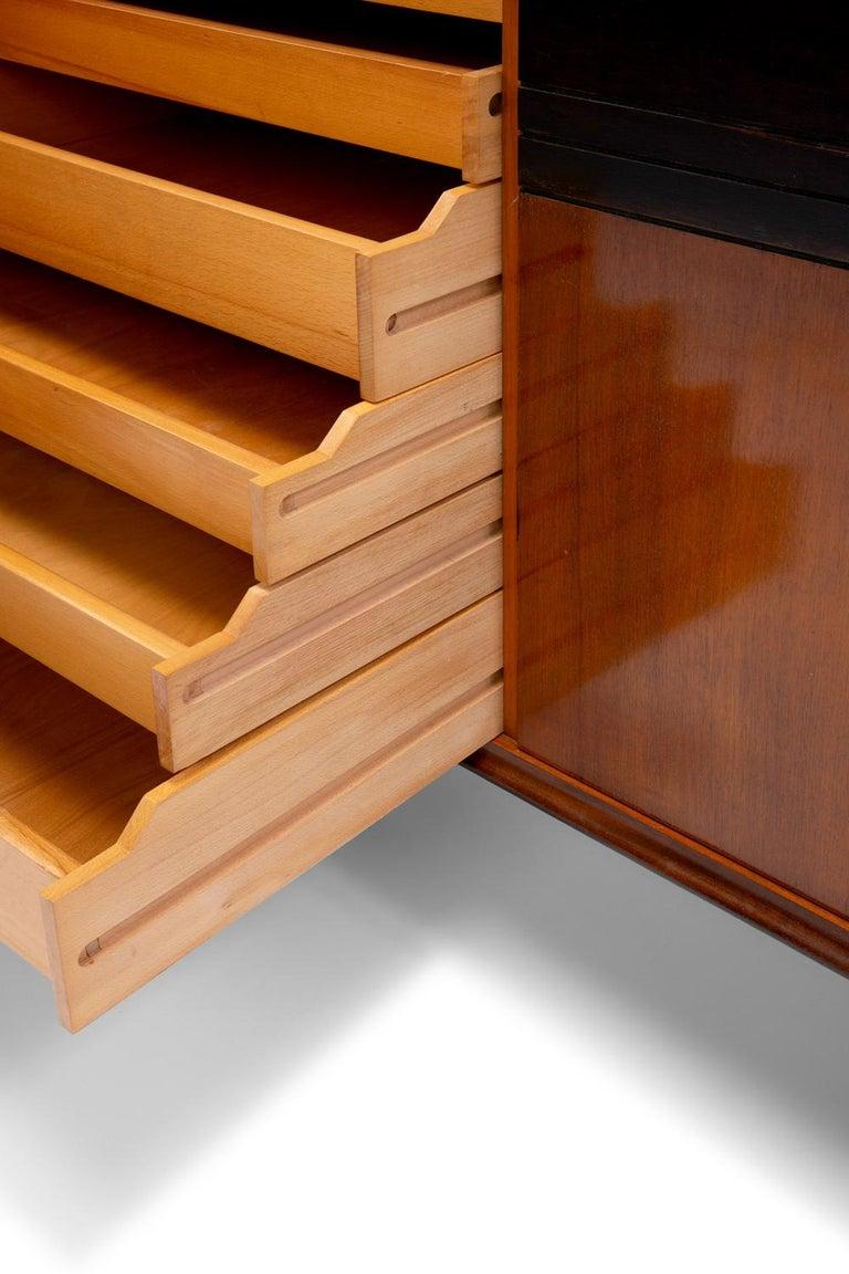 Baxter Low Cabinet No. 6 in Dark Walnut with Gradient Facade by Draga & Aurel For Sale 4