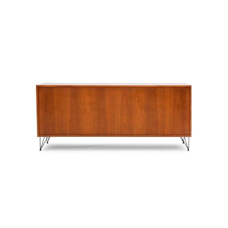 Modern Baxter Low Cabinet No. 6 in Dark Walnut with Gradient Facade by Draga & Aurel For Sale