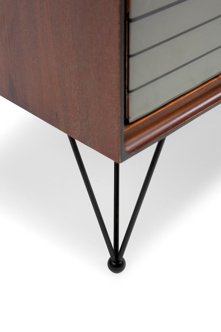 Contemporary Baxter Low Cabinet No. 6 in Dark Walnut with Gradient Facade by Draga & Aurel For Sale