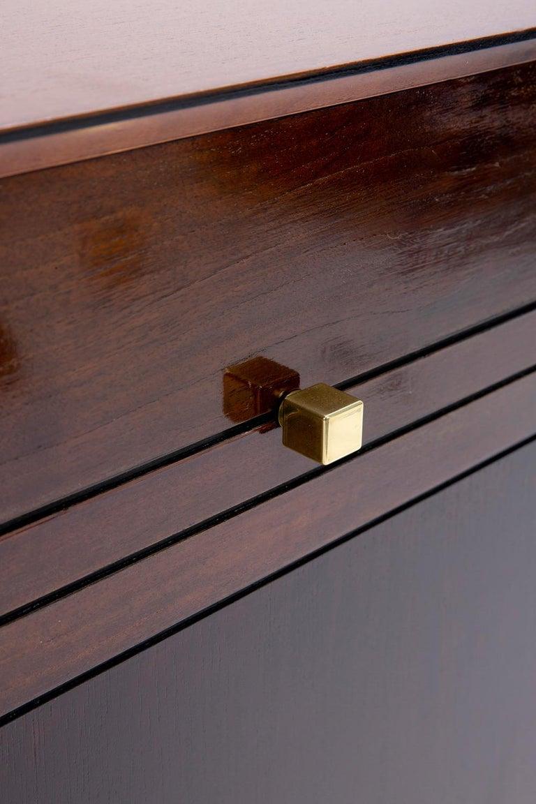 Wood Baxter Low Cabinet No. 6 in Dark Walnut with Gradient Facade by Draga & Aurel For Sale