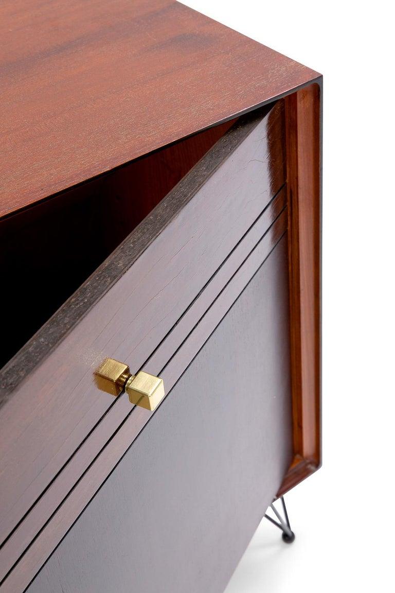 Baxter Low Cabinet No. 6 in Dark Walnut with Gradient Facade by Draga & Aurel For Sale 1